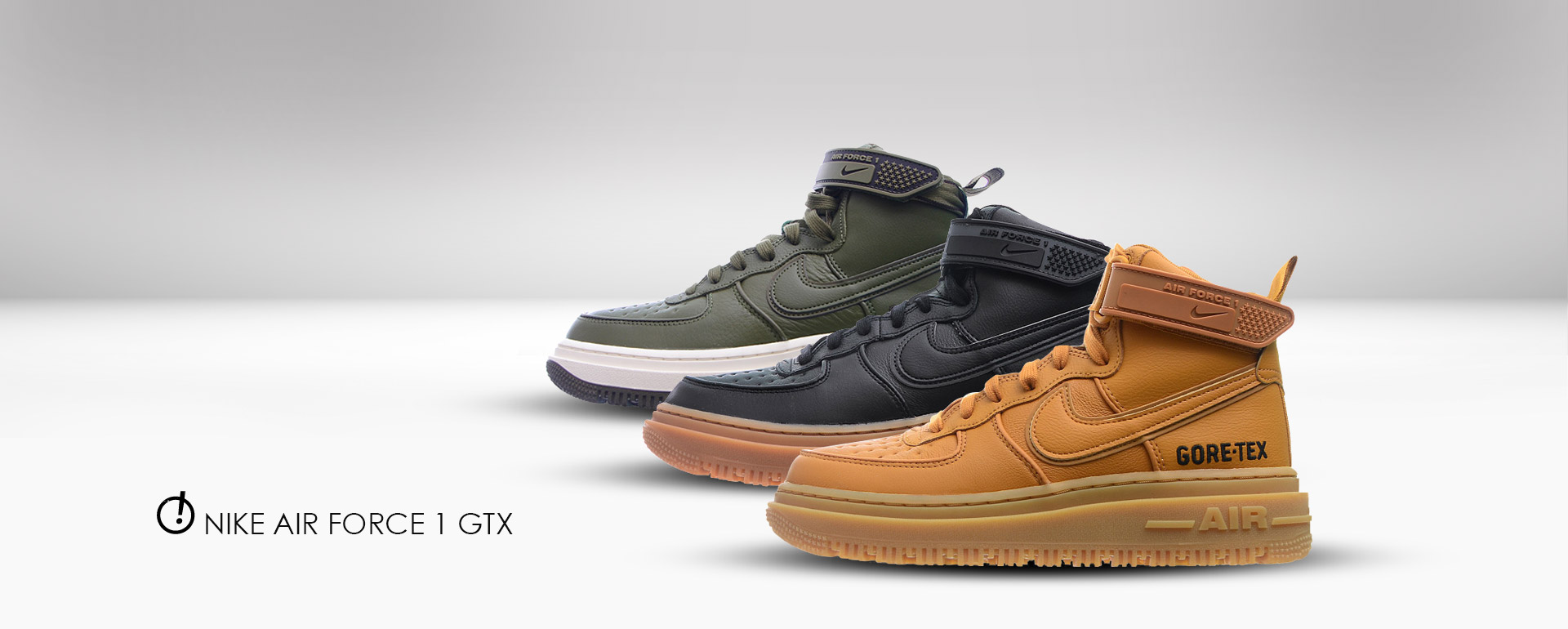 tike slider mockup Nike Air Force 1 GTX