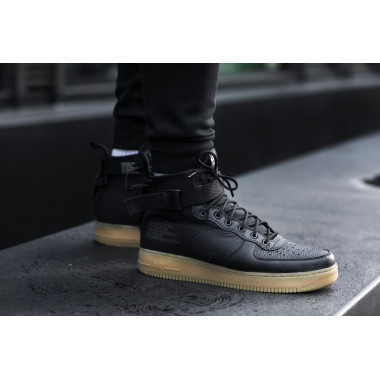 white nike air forces high tops for women black